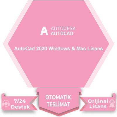 AutoCad 2020 Windows & Mac Lisans