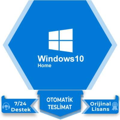 Windows 10 Home Retail Lisans